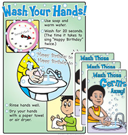 Wash Your Hands Poster and/or Pamphlets