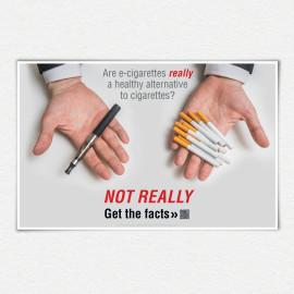 Are E-cigarettes Really a Healthy Alternative? Poster