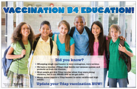Vaccination B4 Education Poster