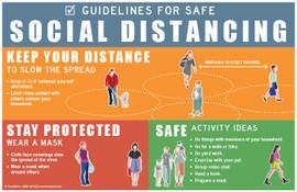 Guidelines for Safe Social Distancing Poster