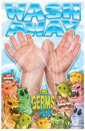 Wash Away The Germs Poster