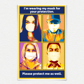 I'm Wearing my Mask for Your Protection Pop Art Laminated Poster