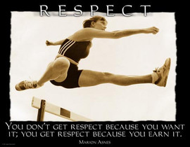 Respect, Marion Asnes, woman jumping over hurdle , track