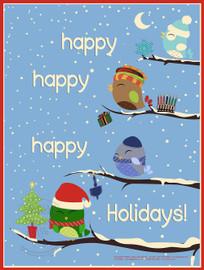 03-PS132-5 Happy Happy Holidays