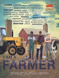 farmer, career choice poster