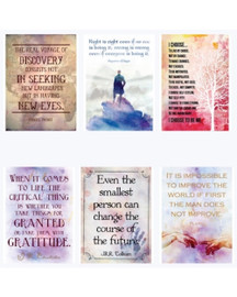 Watercolor Wisdom Series of 6