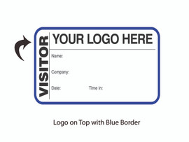 Custom Visitor Pass Book with Your Logo - Top Center  (500 passes)