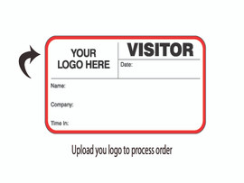 Custom Visitor Pass Book with Your Logo - Left Side  (500 passes)