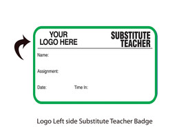 Custom Substitute Teacher Pass Book with Your Logo - Top Left  (500 passes)