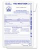 Standard Night Drop Envelope  Custom Imprinted Form #NDE-STD