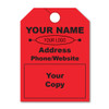 custom fluorescent hang tags