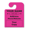 custom hook fluorescent pink hang tags
