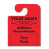 custom hook fluorescent hang tags