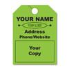 custom  fluorescent green hang tags