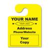 custom hook fluorescent yellow hang tags