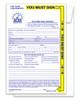 Yellow Highlight Night Drop Envelope PLAIN Form #NDE-YH