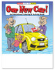 Our New Car Coloring Book With Blank Crayon Box (Fun Pack) (CBS- #0574-FunPack)