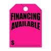 Financing Available Hang Tag 8.5 X 11.5