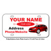Polyethylene Auto Plate Inserts (15-mil) Two Color