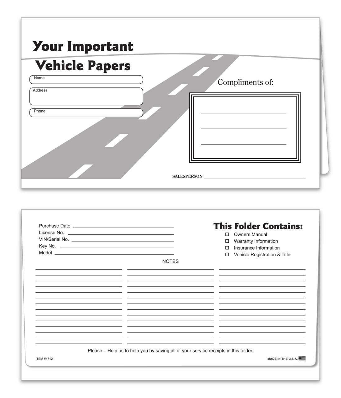 Stock Paper Document Holder