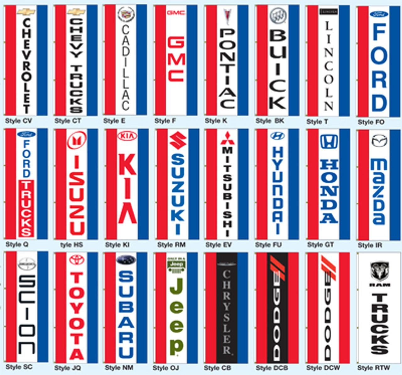 Vertical Dealer Drape Flag - Single Face