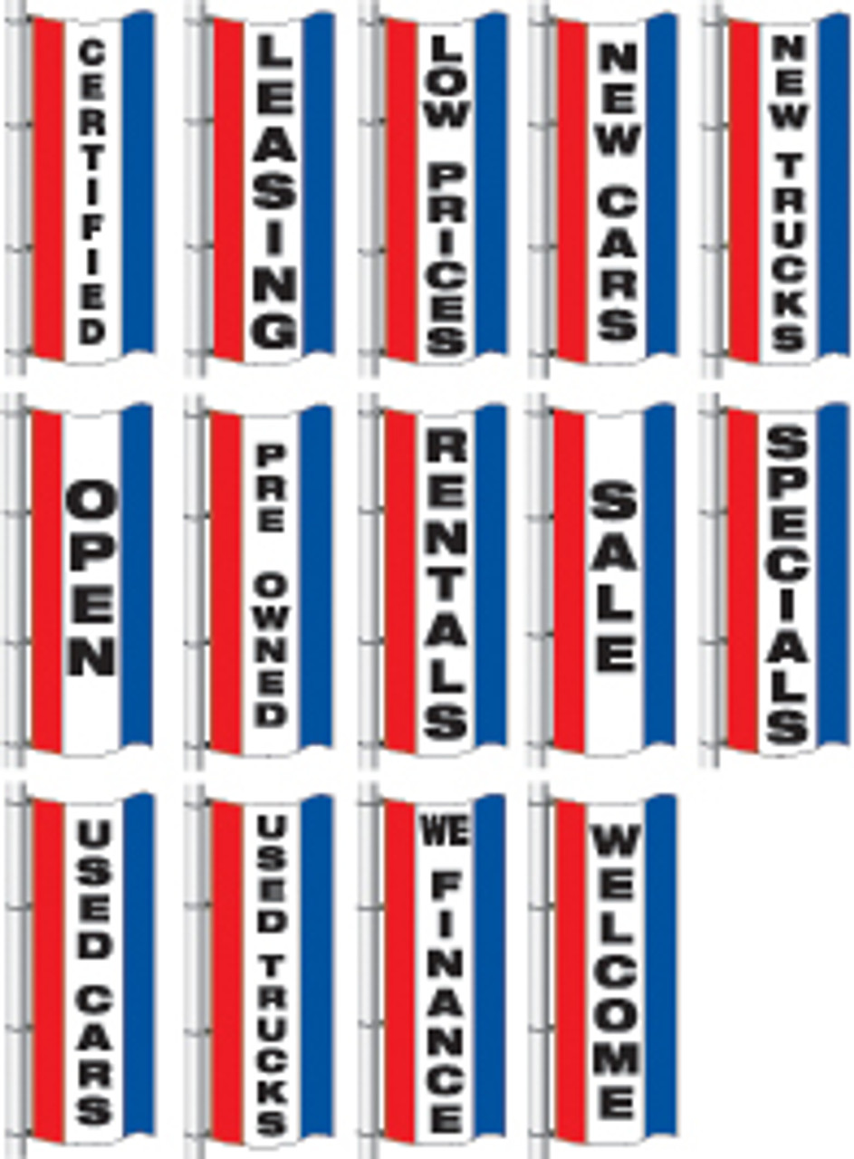 Vertical Slogan Drape Flag - Single Face