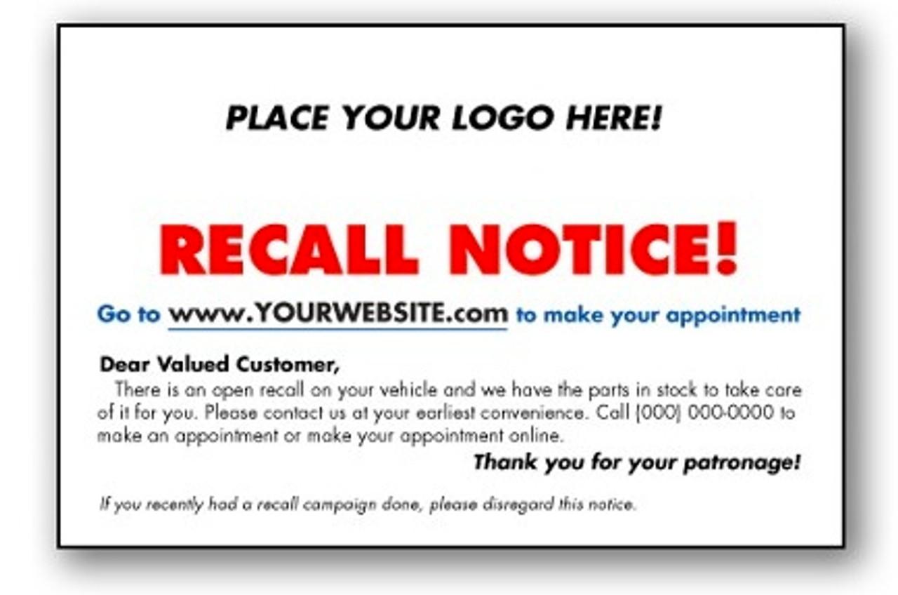 Custom Urgent Recall Notice (Red)
