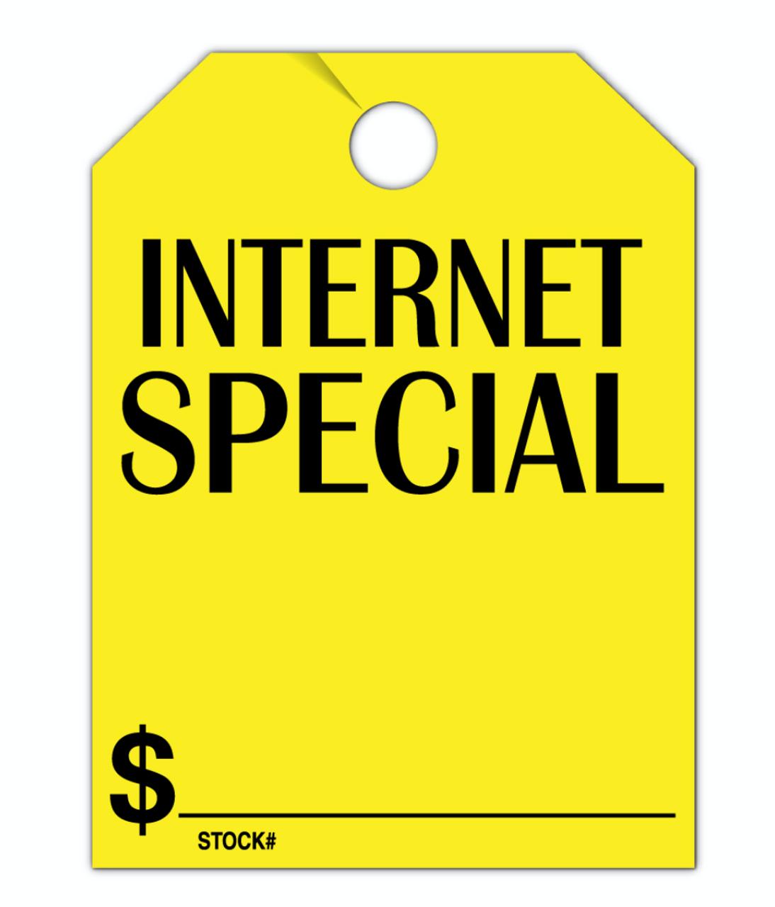 Internet Special Hang Tag 8.5 X 11.5