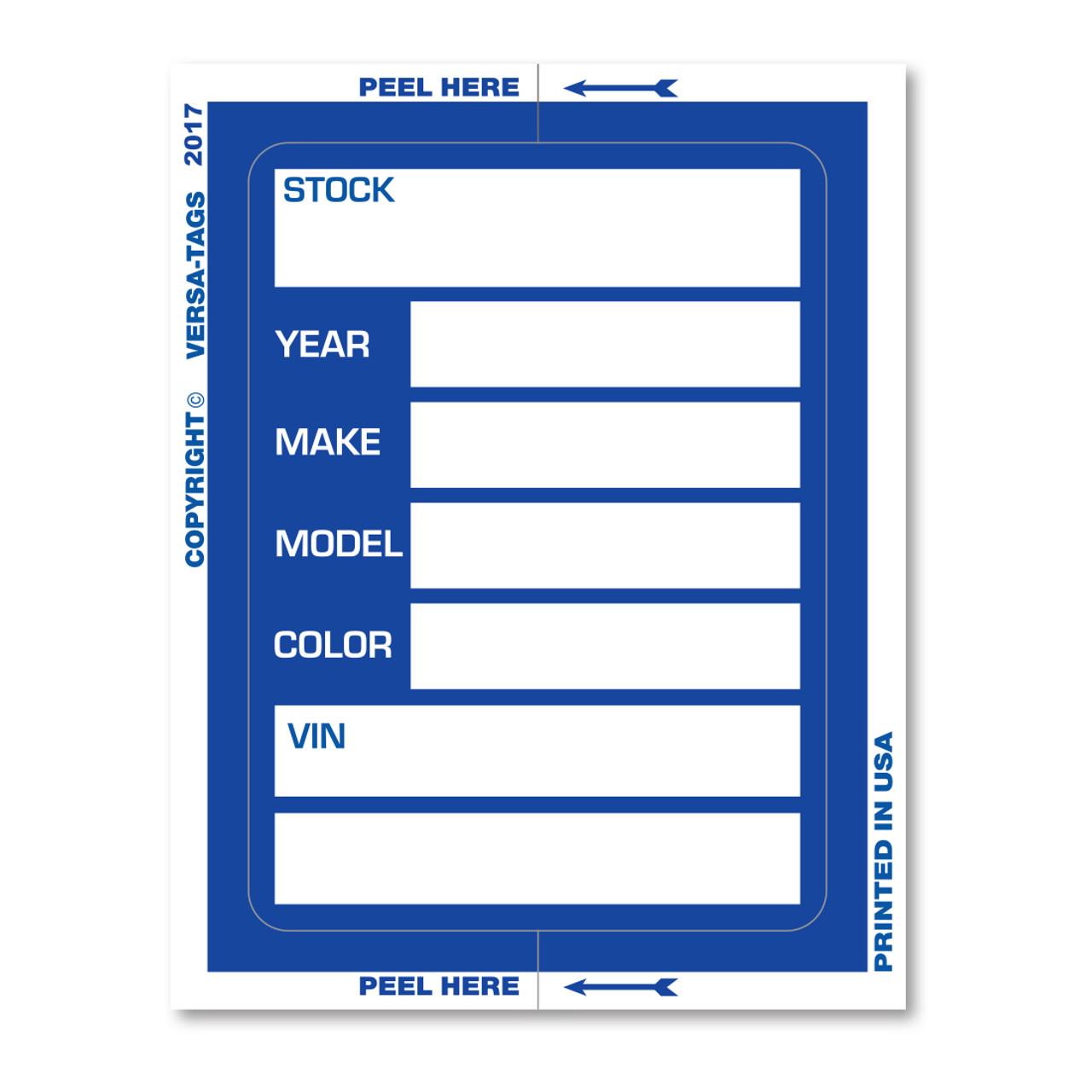 Large Kleer-Bak Stock Stickers
