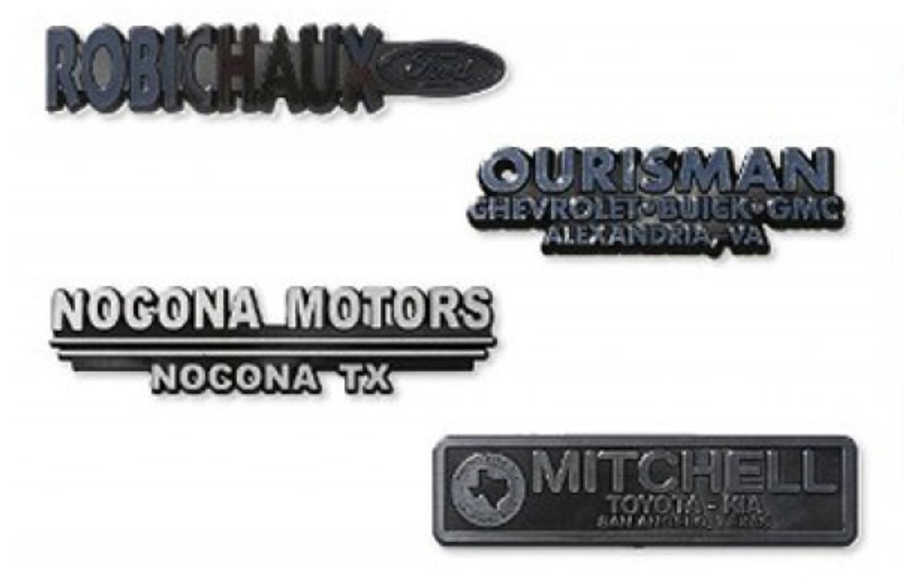 3-Dimensional Plastic Name Plate