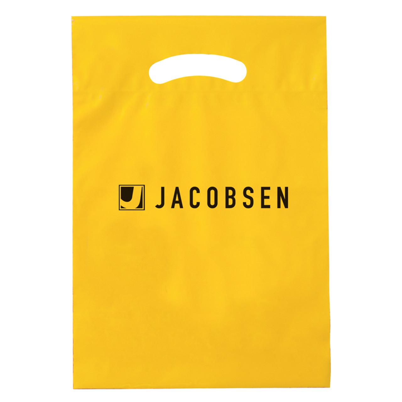 Yellow Reinforced Die Cut Bags