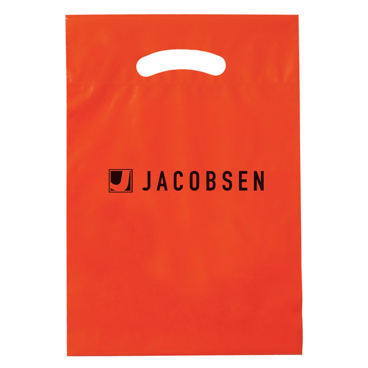 Orange Reinforced Die Cut Bags