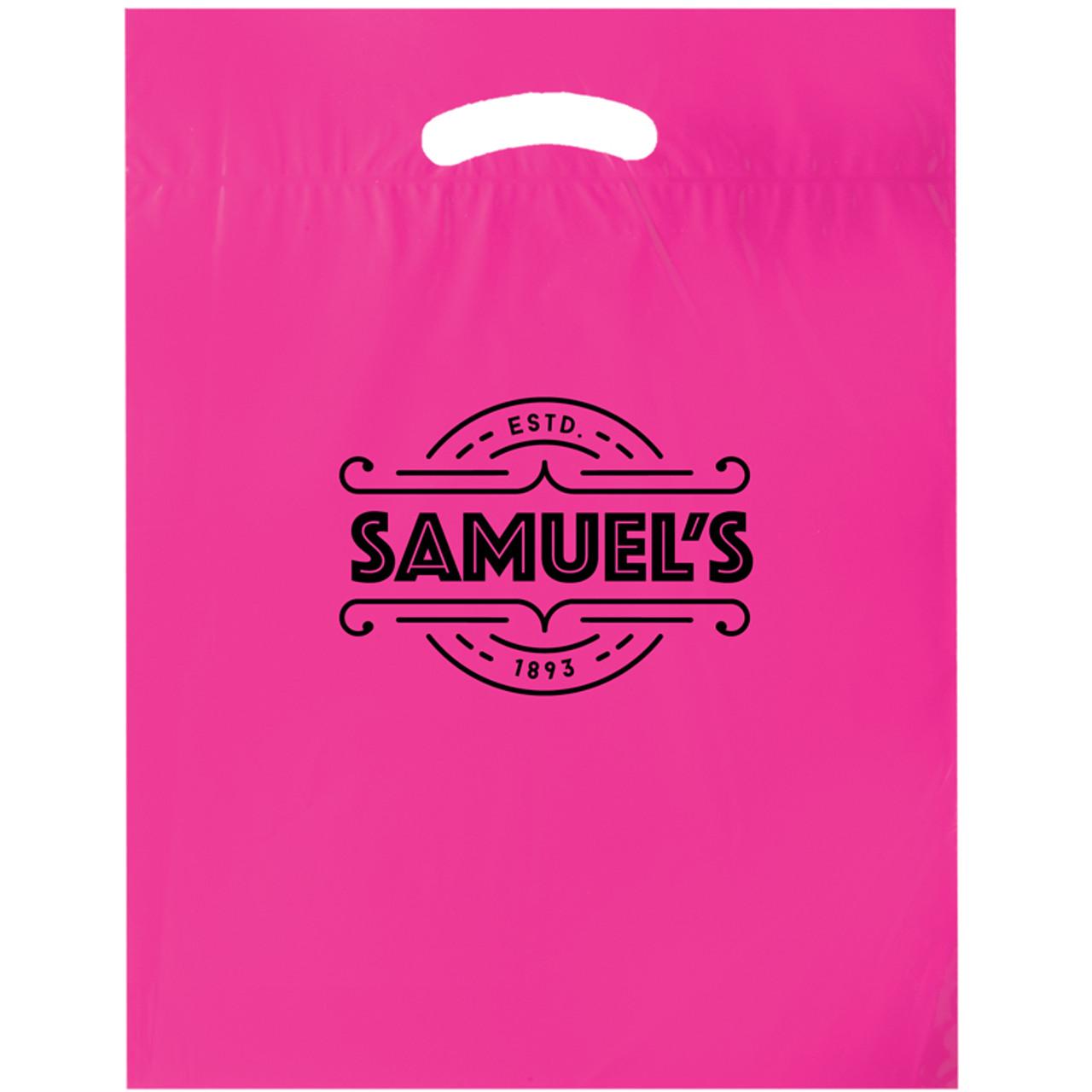Pink Reinforced Die Cut Bags