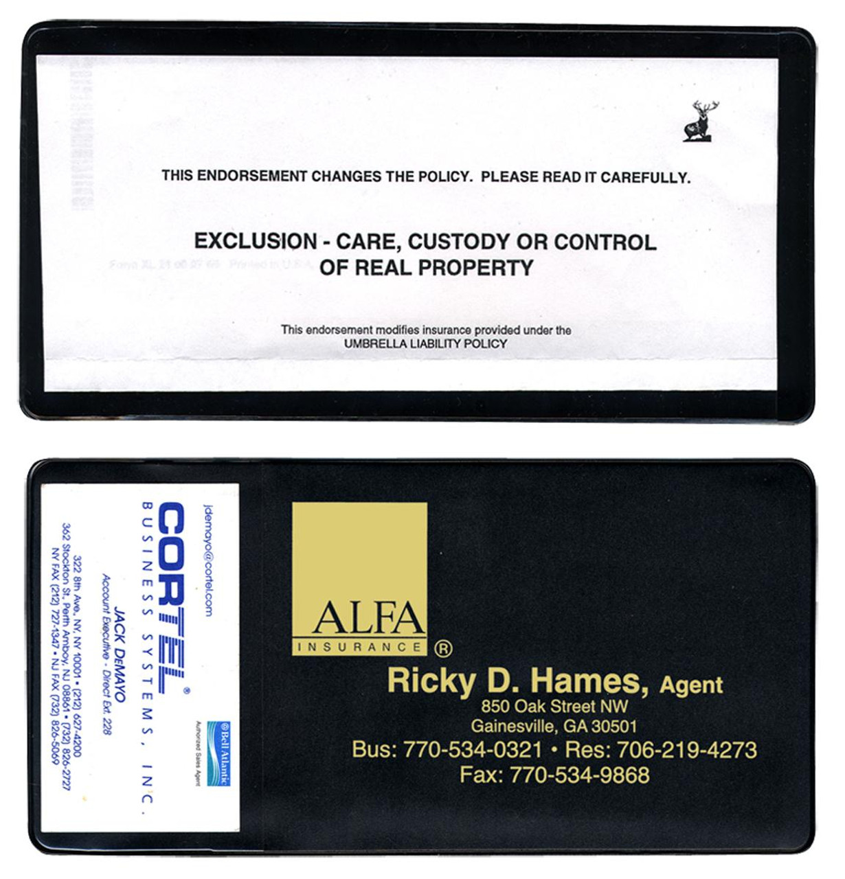 Policy Holder with Extra Pocket (RI-#805P)