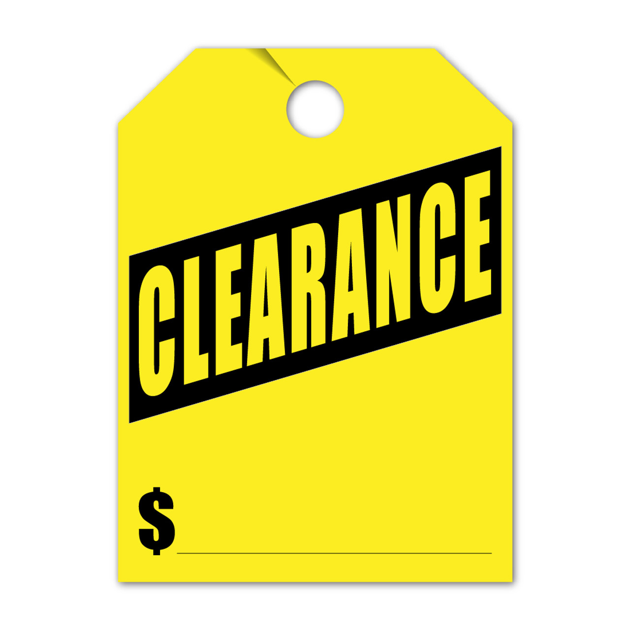 Clearance Mirror Hang Tag 8.5 X 11.5 (VT-#280- CL)