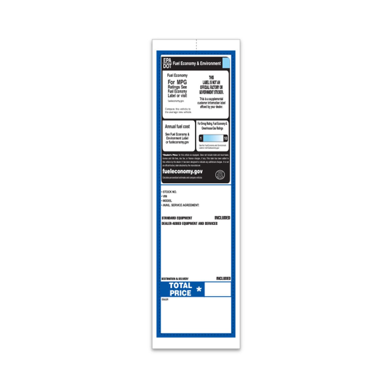 Custom Addendum Sticker (Two Color) 3 1/8' x11' (Form-#8305-3)