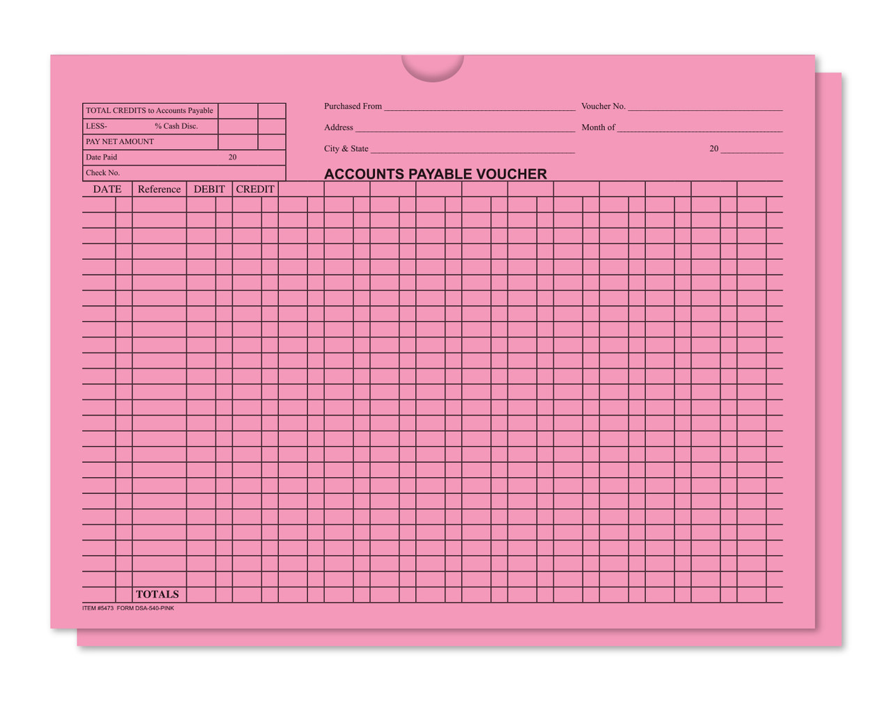 General Accounting Style Deal Jackets (Form #DSA-540)