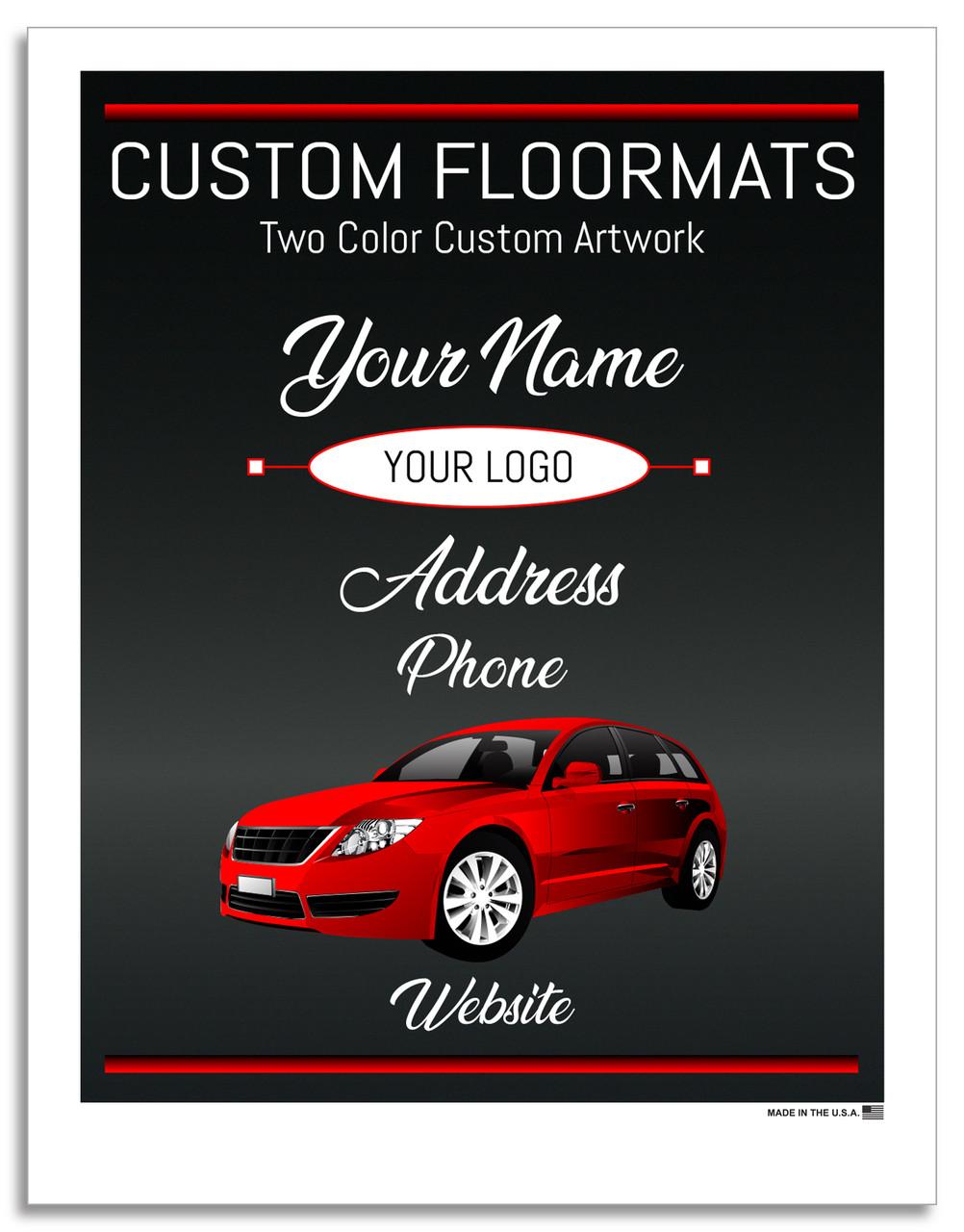 Prime Paper Custom Printed Floor Mats Two Color