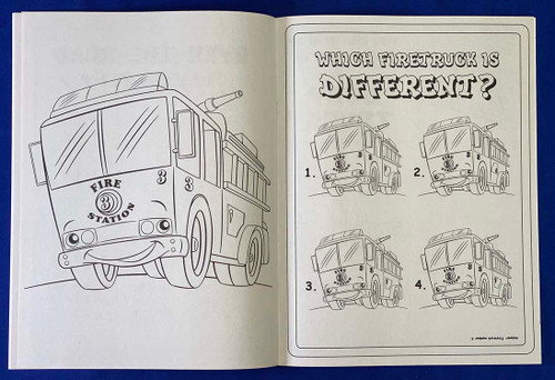 Tons Of Trucks Coloring Book With Custom Imprinted Crayon Box (Fun Pack)