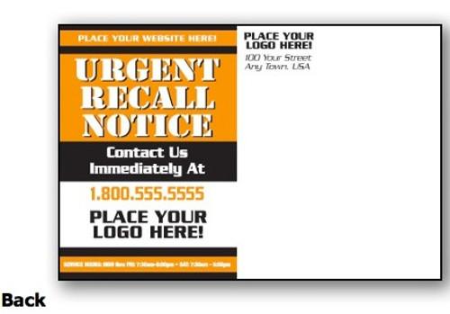Custom Urgent Recall Notice Orange & White