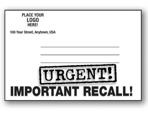 Custom Urgent Recall Notice -Important Recall