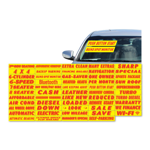 Vinyl Highlights Windshield Slogans