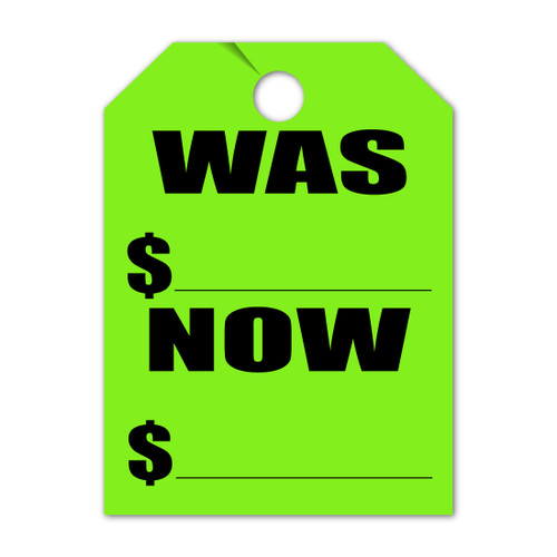 Was/Now Mirror Hang Tag 8.5 X 11.5