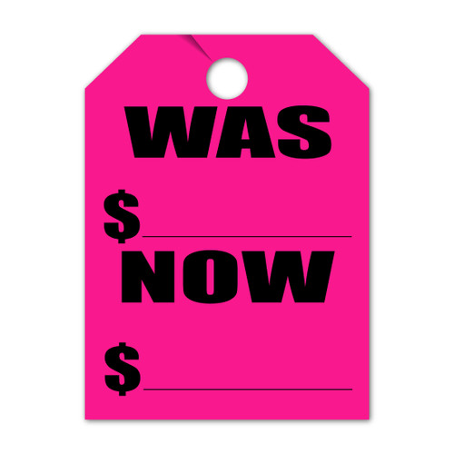 Was/Now Mirror Hang Tag  9 x 12