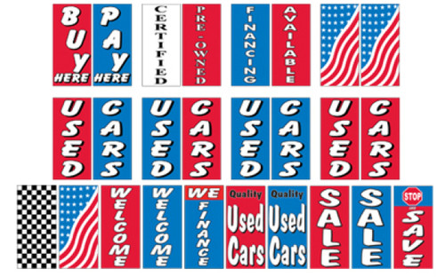Giant Stock Message Double Pole Banner Kit