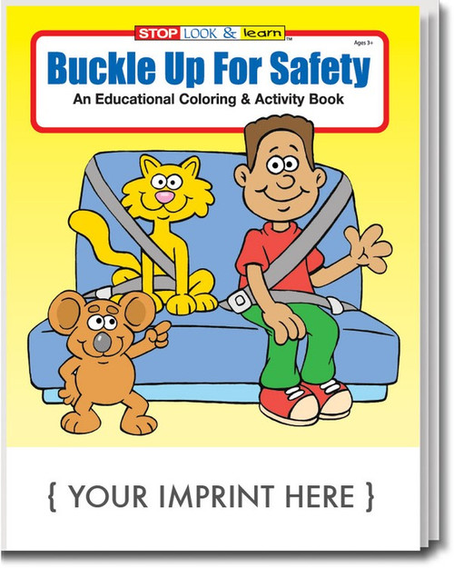 Buckle  Up For Safety Coloring Book (Book Only)