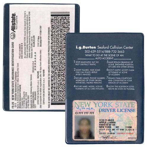 Navy - Copy Guard Insurance Card Holder