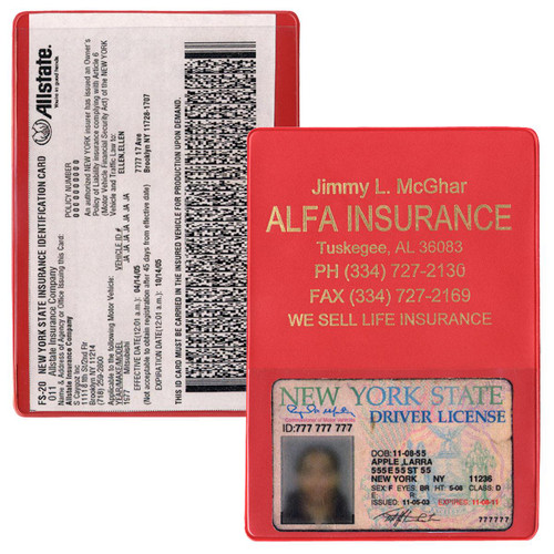 Red - Copy Guard Insurance Card Holder
