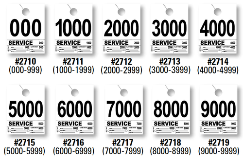 4 Part Service Dispatch Numbers (Form-2710-2769)