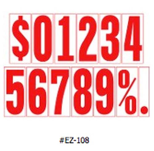 5-1/2' Adhesive Numbers (EZ- #107/108)